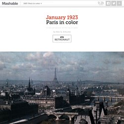 Vivid color photos of 1923 Paris, hub of artistry and progress