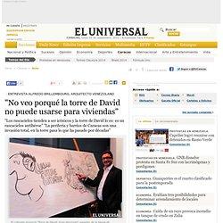 """""""No veo porqué la torre de David no puede usarse para viviendas"""" - Caracas"""