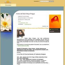 Art de Vivre - Visite de Rishi Nitya Pragya