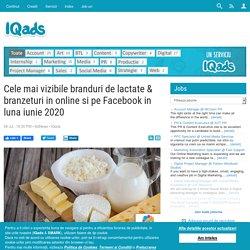 Cele mai vizibile branduri de lactate & branzeturi in online si pe Facebook in luna iunie 2020