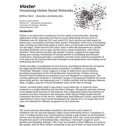 Vizster: Visualizing Online Social Networks