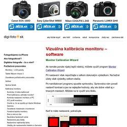 Vizuálna kalibrácia monitoru - software