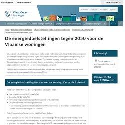 De energiedoelstellingen tegen 2050 voor de Vlaamse woningen - Energiesparen