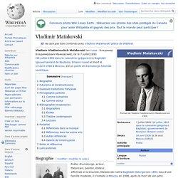 Vladimir Maïakovski