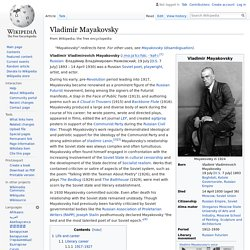 Vladimir Mayakovsky - Wikipedia