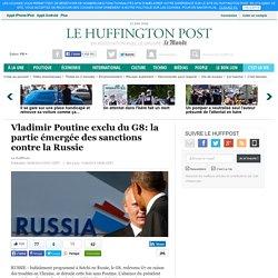 Vladimir Poutine exclu du G8: la partie émergée des sanctions contre la Russie