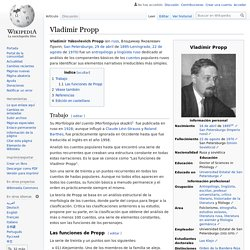Vladímir Propp