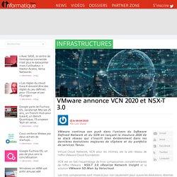 VMware annonce VCN 2020 et NSX-T 3.0
