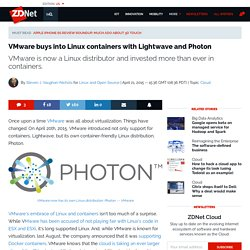 VMware buys into Linux containers with Lightwave and Photon