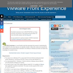VMware Front Experience: ESXi-Customizer