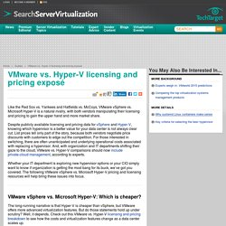 VMware vs. Hyper-V licensing and pricing exposé