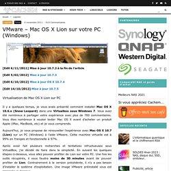 VMware – Mac OS X Lion sur votre PC (Windows)