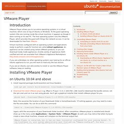 VMwarePlayer - Community Ubuntu Documentation.url