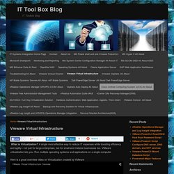 Vmware Virtual Infrastructure - IT Tool Box Blog