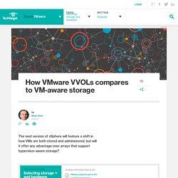 How VMware VVOLs compares to VM-aware storage