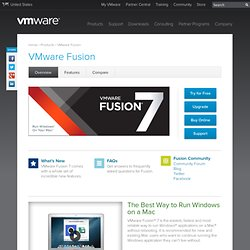Fusion: Run Windows on Mac for Desktop Virtualization