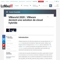 VMworld2020: VMware devient une solution de cloud hybride