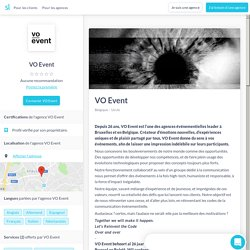 VO Event (+ reviews 2019) - Sortlist
