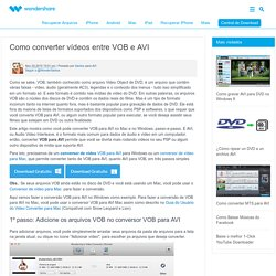 VOB para AVI - Como converter VOB para AVI no Mac/Windows