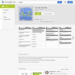 Vocab Builder - Apps on Android Market