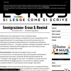 Il vocabolario dell'immigrazione