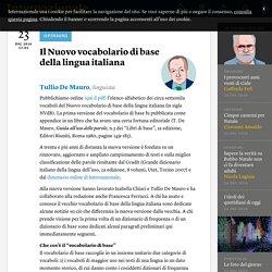 Il Nuovo vocabolario di base della lingua italiana - Tullio De Mauro