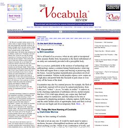The Vocabula Review - August 2010 - Table of Contents