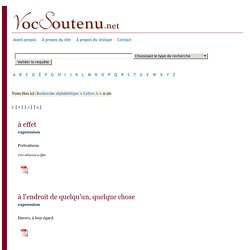 vocabulaire appartenant au registre soutenu