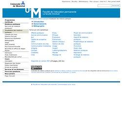 Vocabulaire des relations publiques - Certificat de relations publiques