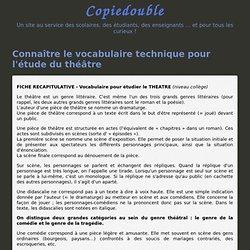 Connaître le vocabulaire technique pour l'étude du théâtre