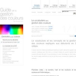 Le vocabulaire de la gestion des couleurs expliqué aux débutants dans le guide de la gestion des couleurs