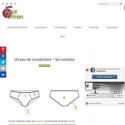 Un peu de vocabulaire - les culottes - Blog de Petit Citron Blog de Petit Citron