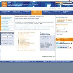 ADBS : Vocabulaire de la documentation
