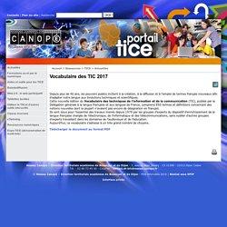 Vocabulaire des TIC 2017