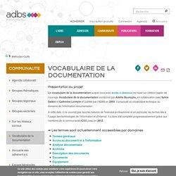 Vocabulaire de l'information et de la documentation