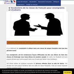 Vocabulaire de la classe de français pour enseignants et étudiants