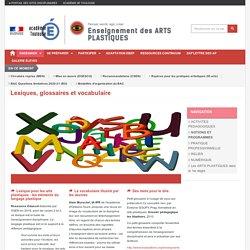 Lexiques, glossaires et vocabulaire
