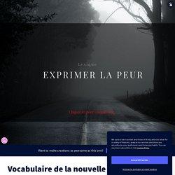 Vocabulaire de la nouvelle fantastique by Prof C on Genially