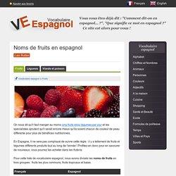 Vocabulaire - les fruits en espagnol