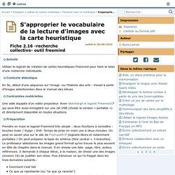 S'approprier le vocabulaire de la lecture d'images avec la carte heuristique- Lettres