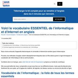 Vocabulaire informatique anglais : les 100 mots à connaître absolument