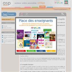 Le vocabulaire des genres et registres littéraires: la tragédie - Réviser une notion - Français
