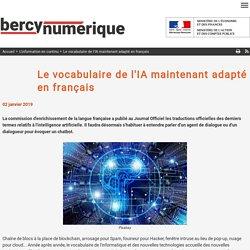 Le vocabulaire de l'IA maintenant adapté en français
