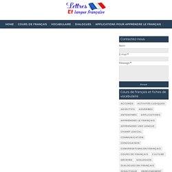 Vocabulaire médical en français - Lettres et langue française