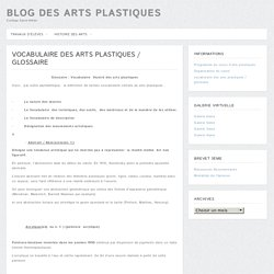 vocabulaire des arts plastiques / glossaire