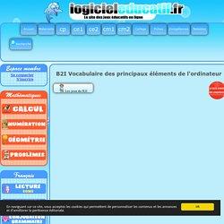 b2i - vocabulaire des principaux éléments de l'ordinateur