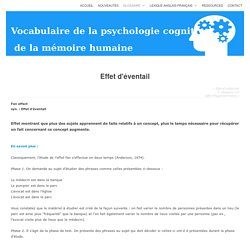 Vocabulaire de la psychologie cognitive de la mémoire humaine