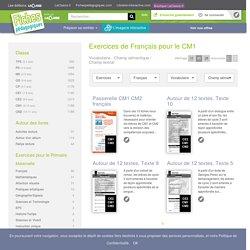Exercices de Français pour le CM1 - Vocabulaire et Champ sémantique / Champ lexical