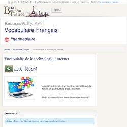 Vocabulaire de la technologie, Internet - Intermédiaire
