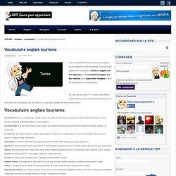 Vocabulaire anglais tourisme - 365 Jours pour Apprendre